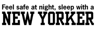Feel safe with a New Yorker t-shirt