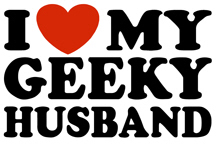 I Love My Geeky Husband t-shirt