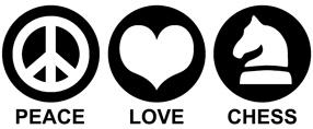 Peace Love Chess t-shirt
