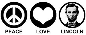 Peace Love Lincoln t-shirt
