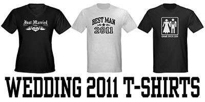 Wedding 2011 t-shirts
