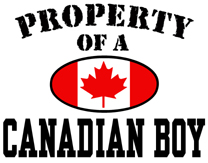 Property of a Canadian Boy t-shirt