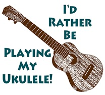 I'd Rather Be Playing My Ukulele t-shirt