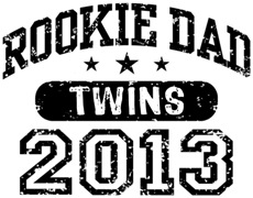 Rookie Dad Twins 2013 t-shirt