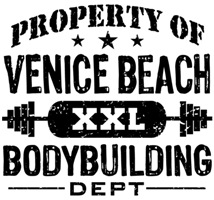 Property of Venice Beach Bodybuilding t-shirts
