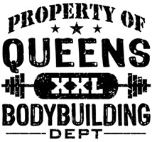 Property of Queens Bodybuilding t-shirts