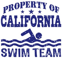 Property of California Swim Team t-shirts