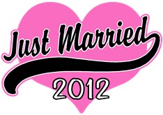 Just Married 2012 t-shirts