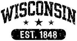 Wisconsin Est. 1848 t-shirts