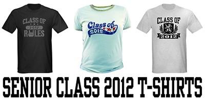 Senior Class 2012 t-shirts
