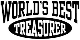 World's Best Treasurer t-shirts