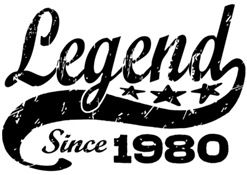 Legend Since 1980 t-shirt