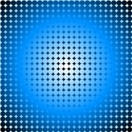 Blue Hoop Dots Full Fade