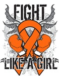 Leukemia Ultra Fight Like a Girl Shirts