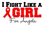 Personalize I Fight Like a Girl Blood Cancer Tees