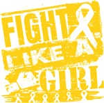 Childhood Cancer Burnout Fight Like a Girl Shirts