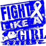 Anal Cancer Burnout Fight Like a Girl Shirts