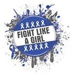 Fight Like a Girl Colon Cancer Splatter Shirts