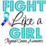Thyroid Cancer Fight Like a Girl Shirts