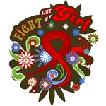 Blood Cancer Retro Fight Like A Girl Shirts