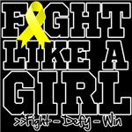 Bladder Cancer Sporty Fight Like a Girl Shirts
