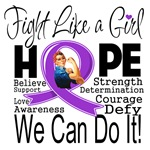 Lupus Hope Fight Like a Girl Shirts