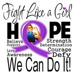Cystic Fibrosis Hope Fight Like a Girl Shirts