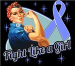 Rosie Riveter Fight Like a Girl Stomach Cancer