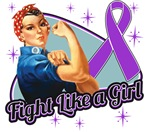 Rosie Riveter Fight Like a Girl Pancreatic Cancer