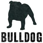 Retro Silhouette Bulldog