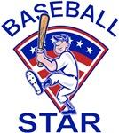 Baseball Star Batter Blue