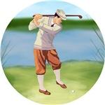 Vintage golfer