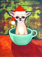 Teacup Chihuahua Santa Claus