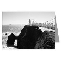 california lighthouses greeting cards