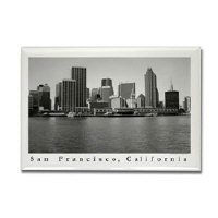 sf bay magnets - black + white urban skyline