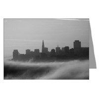 San Francisco Black + White Fog Greeting Cards