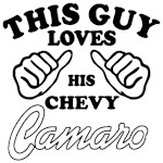 This guy loves his chevy camaro