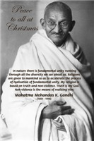 Mahatma Gandhi Christmas Gifts Cards: Peace to All
