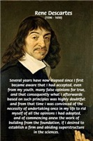 False Opinion Society Influence: Rene Descartes