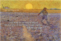 Vincent Van Gogh: sower setting sun painting
