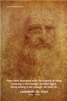 Leonardo da Vinci Self Portrait & Wise Quote