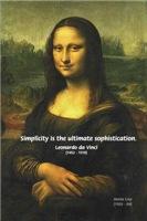 Leonardo da Vinci Mona Lisa: simplicity Quote