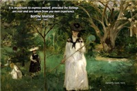 Berthe Morisot: Art Expression & Experience Quote