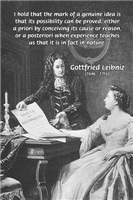 Gottfried Leibniz: Science Truth Reason Experience