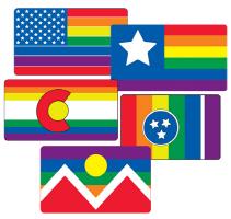 USA Gay Pride Flags