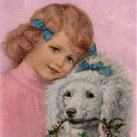 Girl & Poodle - year 1919
