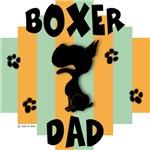 Boxer Dad Green/Orange Stripe