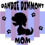 Dandie Dinmont Terrier Mom - Blue/Purple Stripe