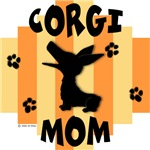 Welsh Corgi Mom - Yellow/Orange Stripe