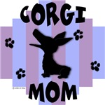 Welsh Corgi Mom - Blue/Purple Stripe